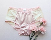 "Satin and Sequin Bridal ""Astrid"" Hipster Cut Panties Handmade Unique Lingerie by Ohhh Lulu"