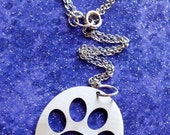 Paw Print Charm Necklace Key Chain or Pendant
