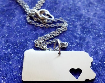 I Heart Pennsylvania - Necklace Pendant or Keychain