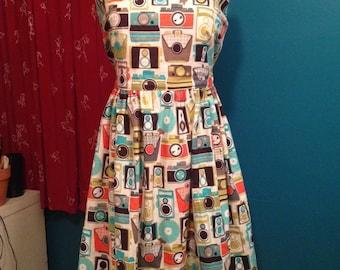 For the Fashionable Photog!  Camera Print dress