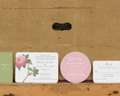 Boho Botanical Wedding Invitations,Rustic Modern Wedding Invitation, Floral Wedding Invite,Unique Wedding Invitations,Boho Chic
