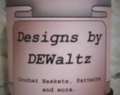 Solid Black Jersey Tee Shirt Trapillo Yarn from Designs by DEwaltz