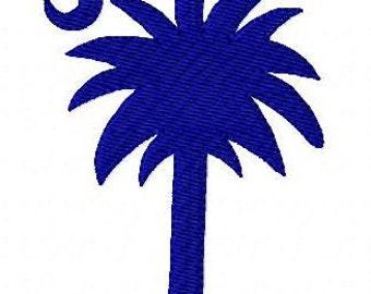 South Carolina Embroidery Design, Palmetto Moon Machine Embroidery Design, Joyful Stitches // Joyful Stitches