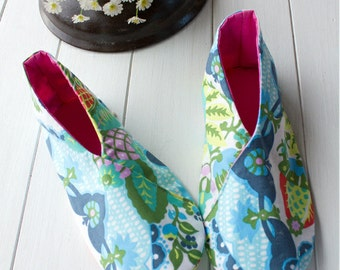 no 673 Winter Woman's Kimono Shoes PDF Pattern