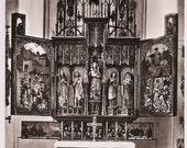 German Monastery Kloster Blaubeuren Hochaltar - Church Altar - Vintage Postcard Germany