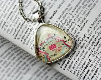 Map Jewelry, Vail Colorado , Colorado Necklace , Map Necklace , Map Pendant , I Love Vail Colorado , Ski Gift , Colorado Vacation