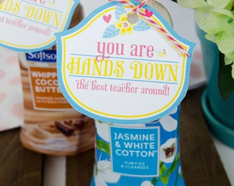 Teacher Appreciation Idea - Hands Down The Best Teacher Printable (INSTANT DOWNLOAD) by Love The Day