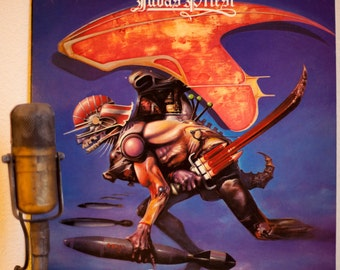 "ON SALE Judas Priest Vinyl Record LP 1970s British Heavy Metal Hard Rock Rob Halford K.K. Downing Guitar ""Rocka Rolla"" (1984 Rca debut Lp re"