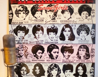 "The Rolling Stones Vinyl Record 1970s Classic Rock Mick Jagger Keith Richards""Some Girls""(IMPORT 1987 RS/Atlantic re-issue w/""Miss You"")"
