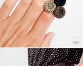 Ring. Romantic crocheted circles ring. Eco-Friendly Jewelry. Textile jewelry. Organic forms. Crochet Jewelry. Romantic Jewelry.