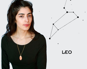 Leo - Necklace - Flat Penny - Zodiac - Mature - Sex - Sex Position - Astrology - Star Sign - Flattened Penny - Elongated Penny
