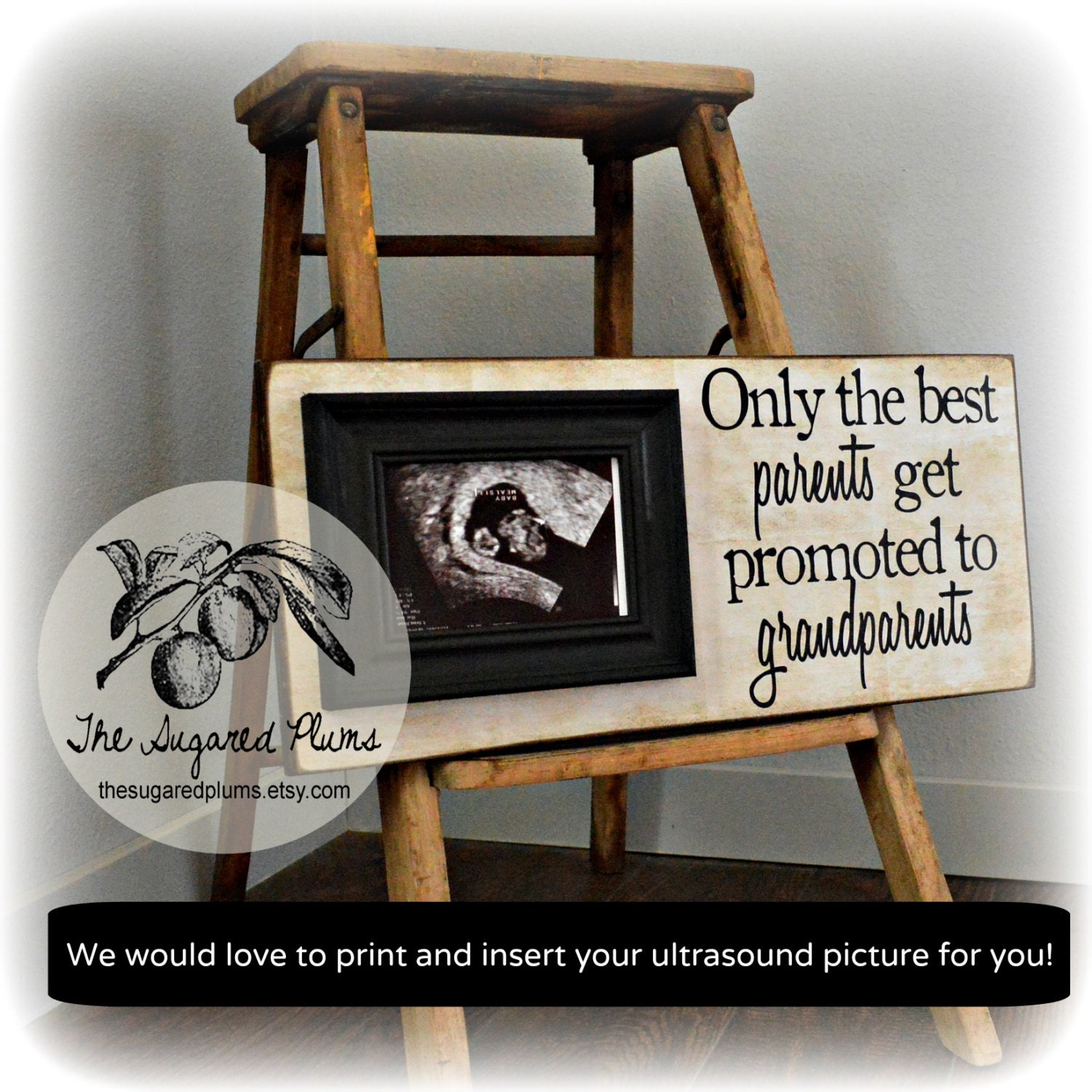 Pregnancy expecting announcement for grandparents ultrasound gift pregnancy expecting announcement for grandparents ultrasound gift picture frame grandparents gift expecting baby 8x20 the sugared plums jeuxipadfo Choice Image