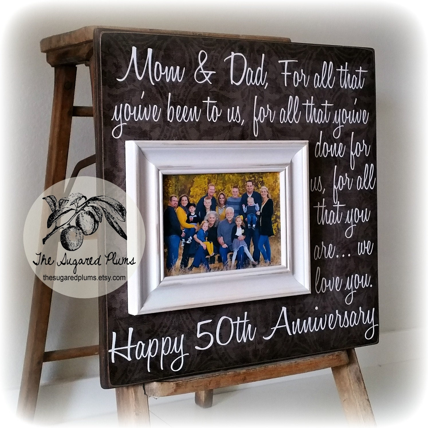 Unique Gifts 50th Wedding Anniversary : Parents Anniversary Gift 50th Anniversary Gifts by thesugaredplums