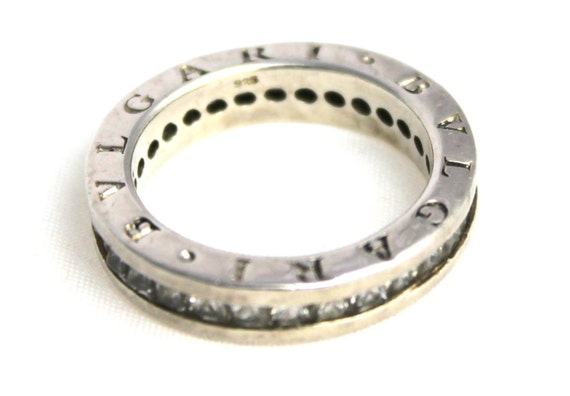 bvlgari sterling silver clear ring 925 size s 5 9 5