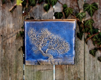 Windswept Tree Sculpture, Tree Art Wall Plaque, Tree Branches Silhouette, Tree Wall Hanging, Gardener Gift