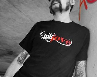 Ink Love Men's Tattoo T-shirt, Rocker T-shirt