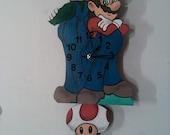 Mario Bros Children's pendulum clock