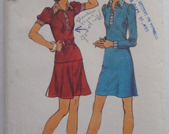 Women's Knit Dress or Top and Skirt Sewing Pattern - Simplicity 5902 - Size 14, Bust 36