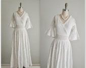 70's Wedding Dress // Vintage 1970's Bohemian White Pintucked Cotton Lace Mexican Maxi Wedding Dress XS
