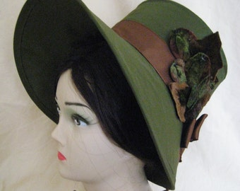 CUSTOM Regency Poke Bonnet. Jane Austen. 'EMILY' Your choice of colour/trims/fabric.