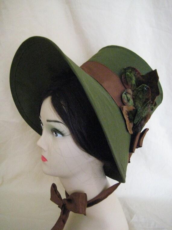 CUSTOM Regency Poke Bonnet. Jane Austen. 'EMILY' Your choice of colour/trims/fabric.