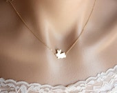 Cute Bunny Necklace , Gold Bunny Necklace , Rabbit Necklace , Baby Bunny , New Baby New Mom Gift