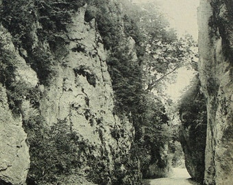 French Postcard - The Gorges at Yenne, Savoie, France