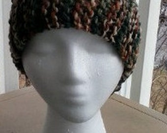 Camo Jogging Hat with Ponytail Space