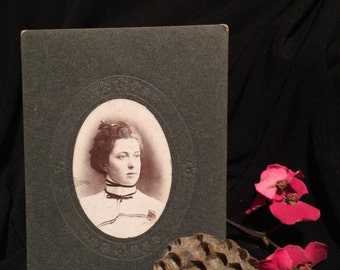 Small Antique Photo - Woman of Dansville , New York