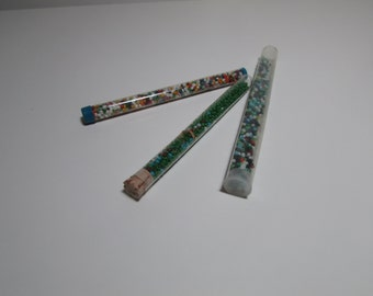 Seed Beads - Vintage Tubes - Mixed colors for crafting, jewelry making