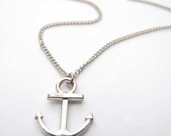 Anchor Necklace // Nautical necklace // Silver, Gold Anchor // Anchor Jewelry // Nautical Jewelry //  Seafarers Necklace