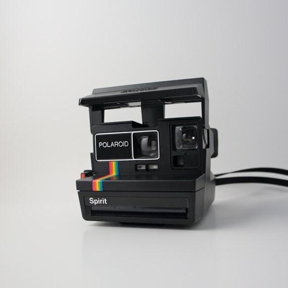 polaroid spirit 600 rainbow land camera by boomvintage on etsy. Black Bedroom Furniture Sets. Home Design Ideas