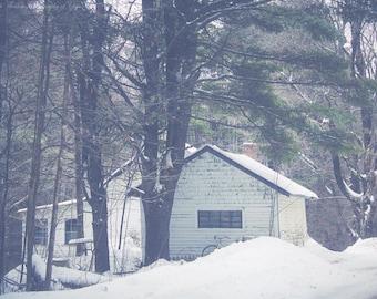 MAINE Photography ~ DENMARK Maine New England Travel Winter Snow Seasonal Nature Landscape Scenic Photo Art Print