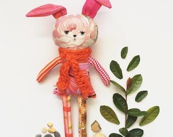 Millie  - oddbunny - rabbit - softie - ooak - easter