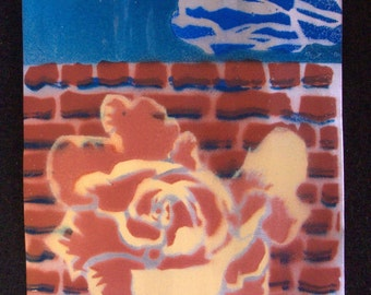 Spring City Rose Garden - 4x6 inch painted aluminum