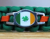 Shamrock Cat Collar, Irish Cat Collar, Paracord Collar