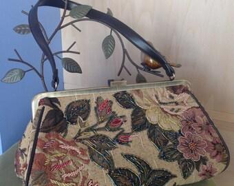 Tapestry floral handbag