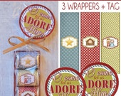 Mini Manger Nugget Wrapper Set, Christmas Nativity Baby Jesus - Printable Instant Download