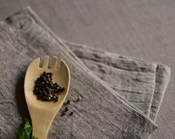 2 Natural Linen Towels  Pre Washed Hand Towels Natural Rustic Linen Tea Towels Eco Friendly Face Towels
