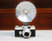 Vintage Argus camera with flash