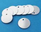 """10 Aluminum Stamping Tags - Mirror Finish - 11/16"""" - 17.5mm Disc - MT53"""
