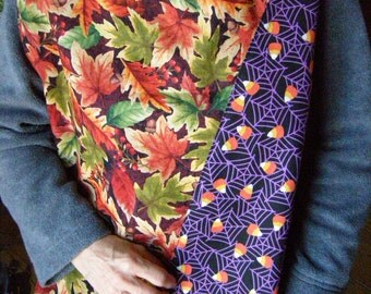 Fall/Halloween Adult Bib reversible extra long