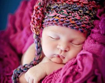 Newborn Photo Prop Baby Girl Elf Hat