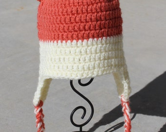 Crocheted Woodland Fox Hat size 3-6 months baby - Ready to ship
