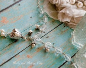 Precious handmade Lily of the Valley bracelet or necklace