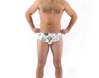 Men's Freak of Nature Swimsuit Brief in White