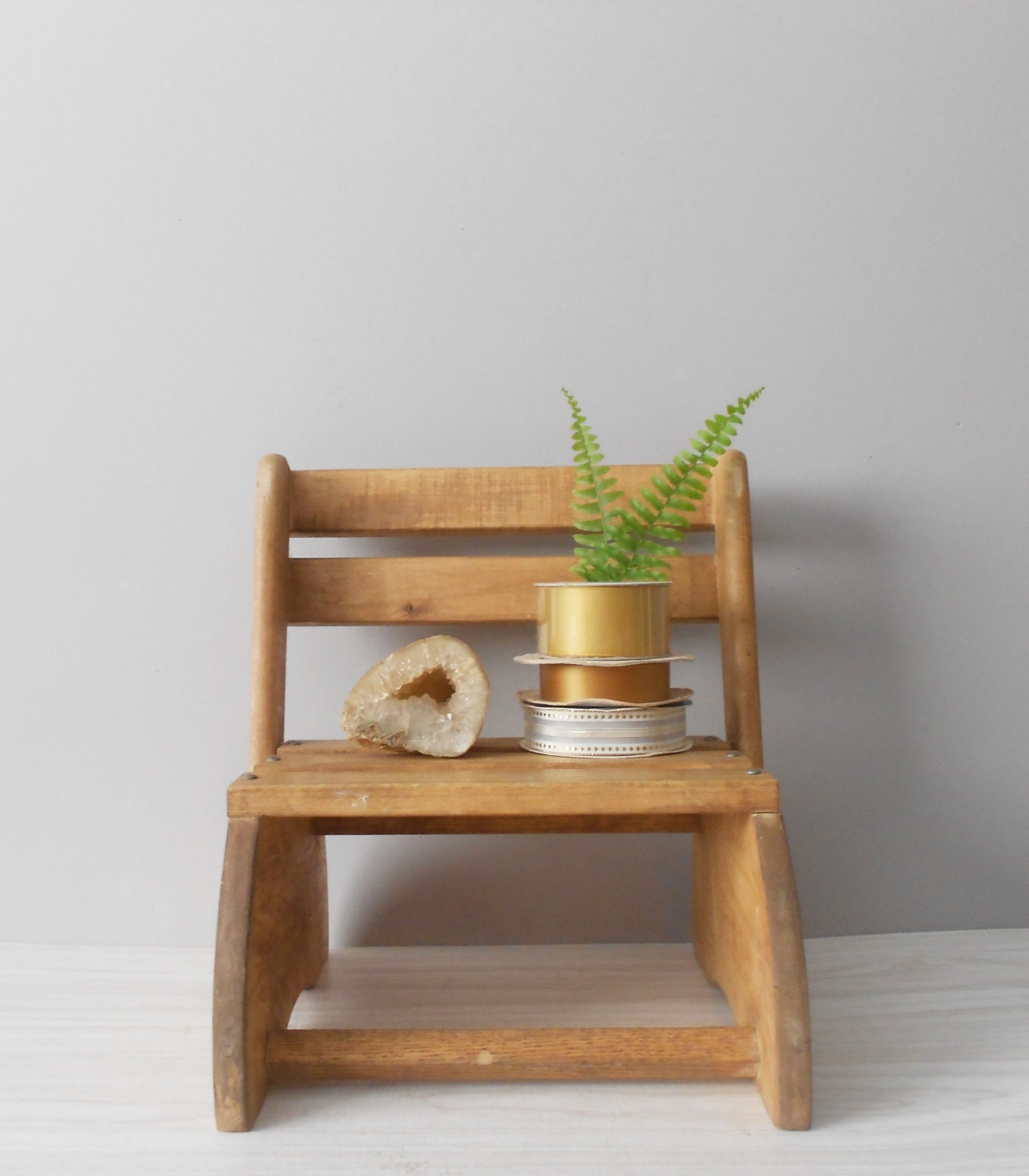 Hand Made Wood Bed For Children : wooden handmade folding child's chair // stepping stool // kids ...
