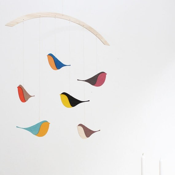 SNUG.SONGBIRDS  wooden mobile
