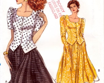 Vogue 7463 Misses' Top and Skirt Sewing Pattern - Uncut - Size 12, 14, 16 - Bust 34, 36, 38