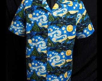 Go Van Gogh limited-edition ultra-high quality men's shirt